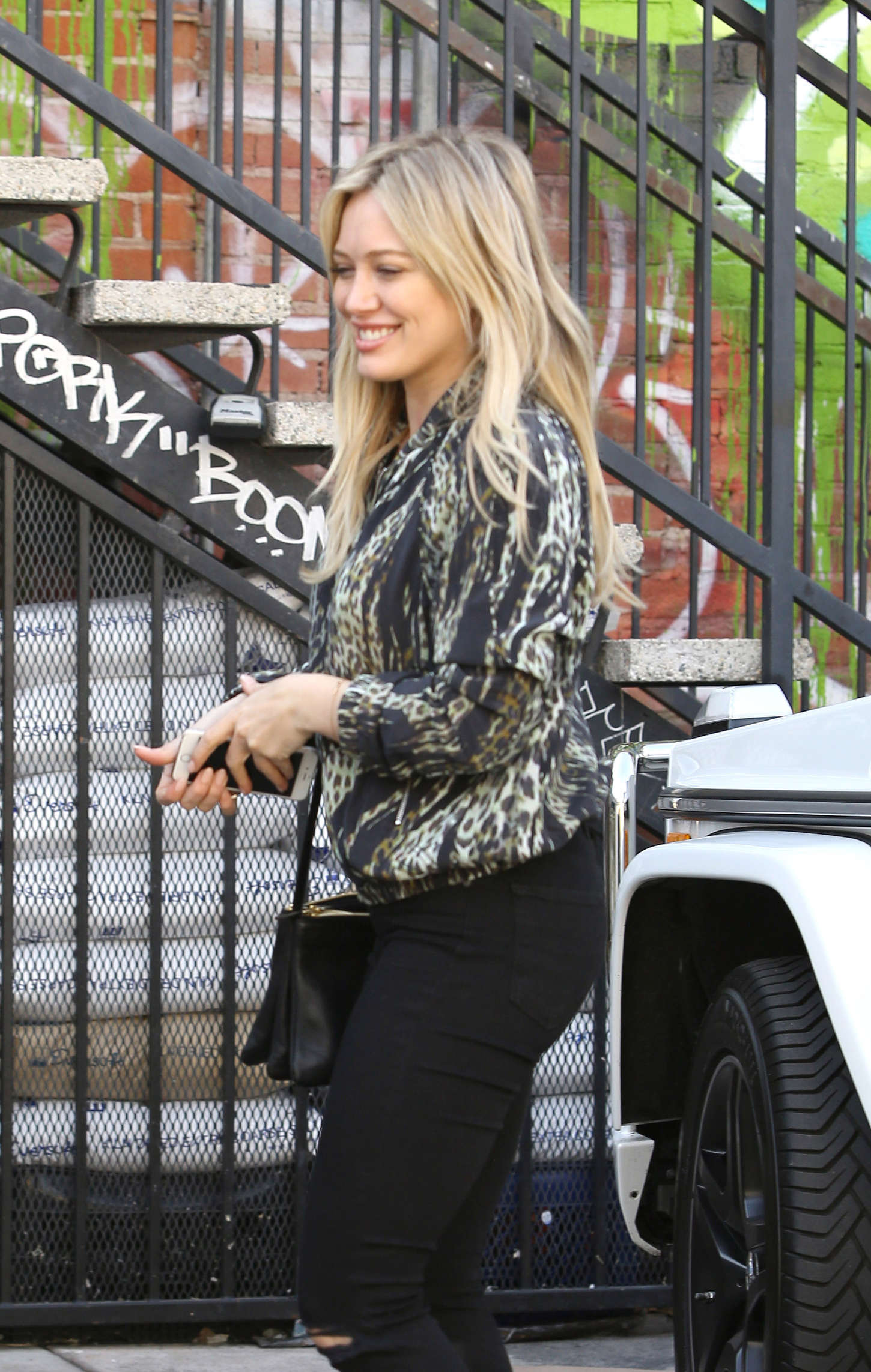 Hilary Duff Booty in Jeans Out in LA