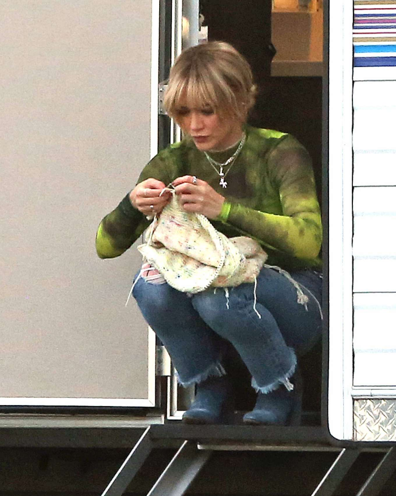 Hilary Duff 2019 : Hilary Duff – Takes a break while filming Lizzie McGuire-04