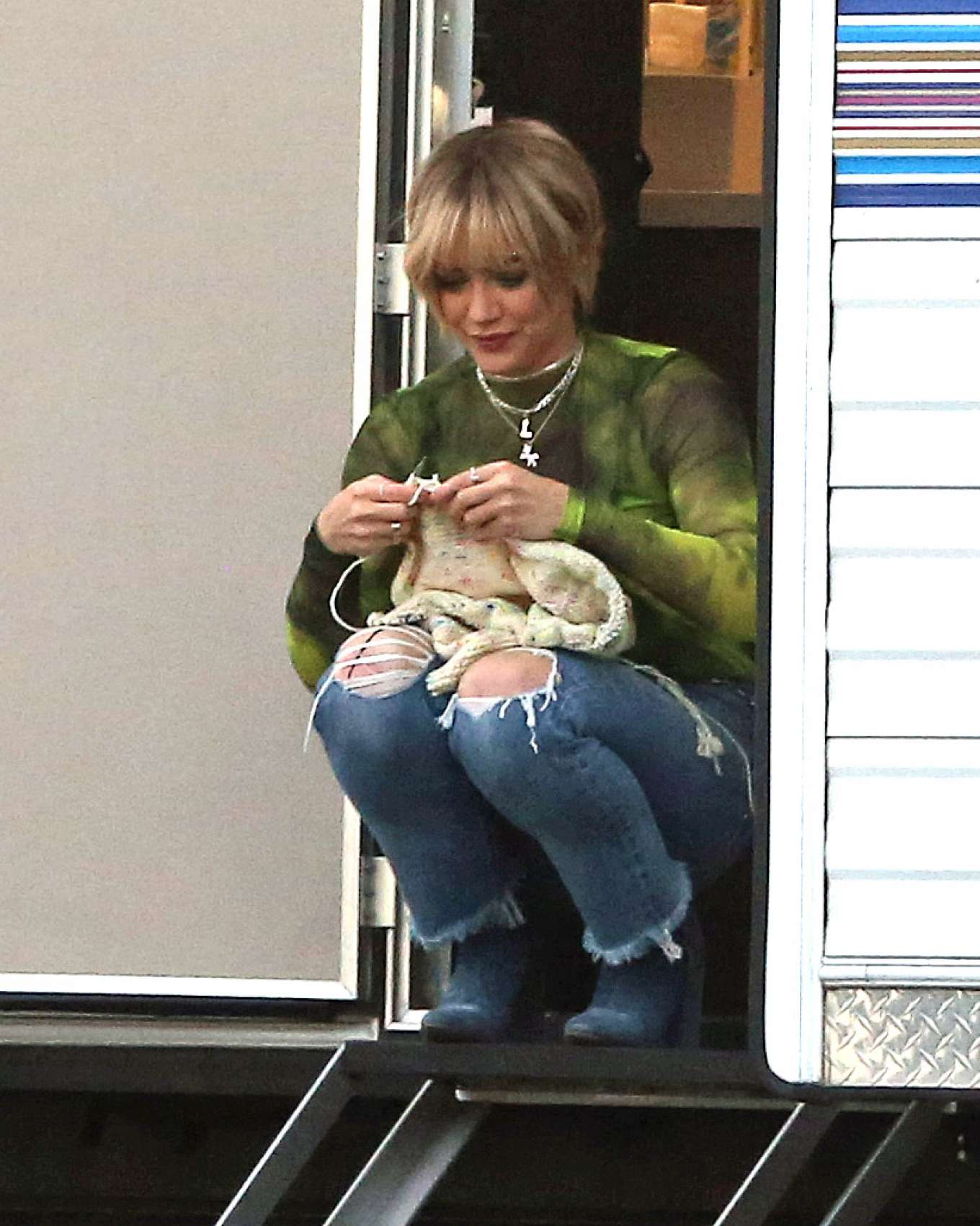 Hilary Duff 2019 : Hilary Duff – Takes a break while filming Lizzie McGuire-06