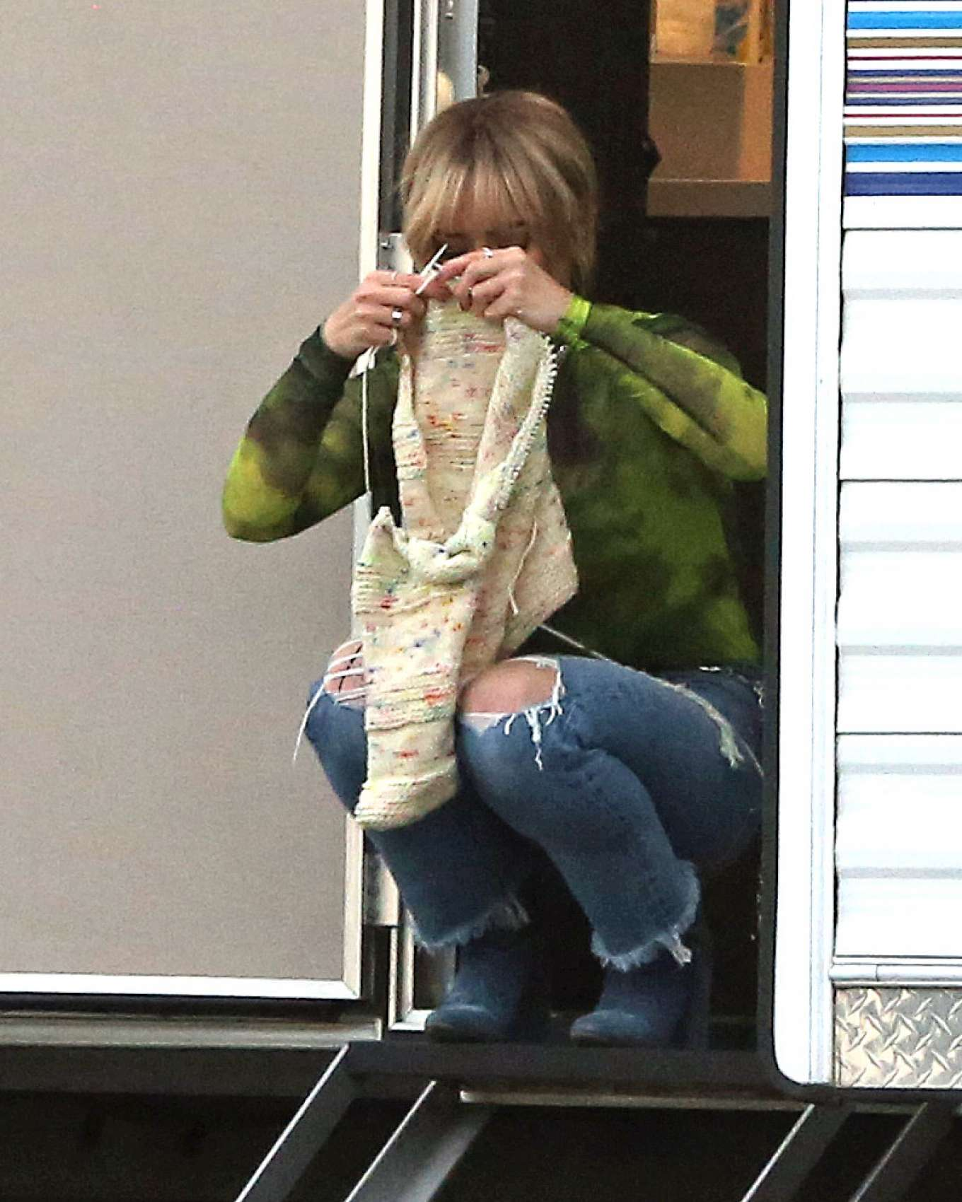 Hilary Duff 2019 : Hilary Duff – Takes a break while filming Lizzie McGuire-11
