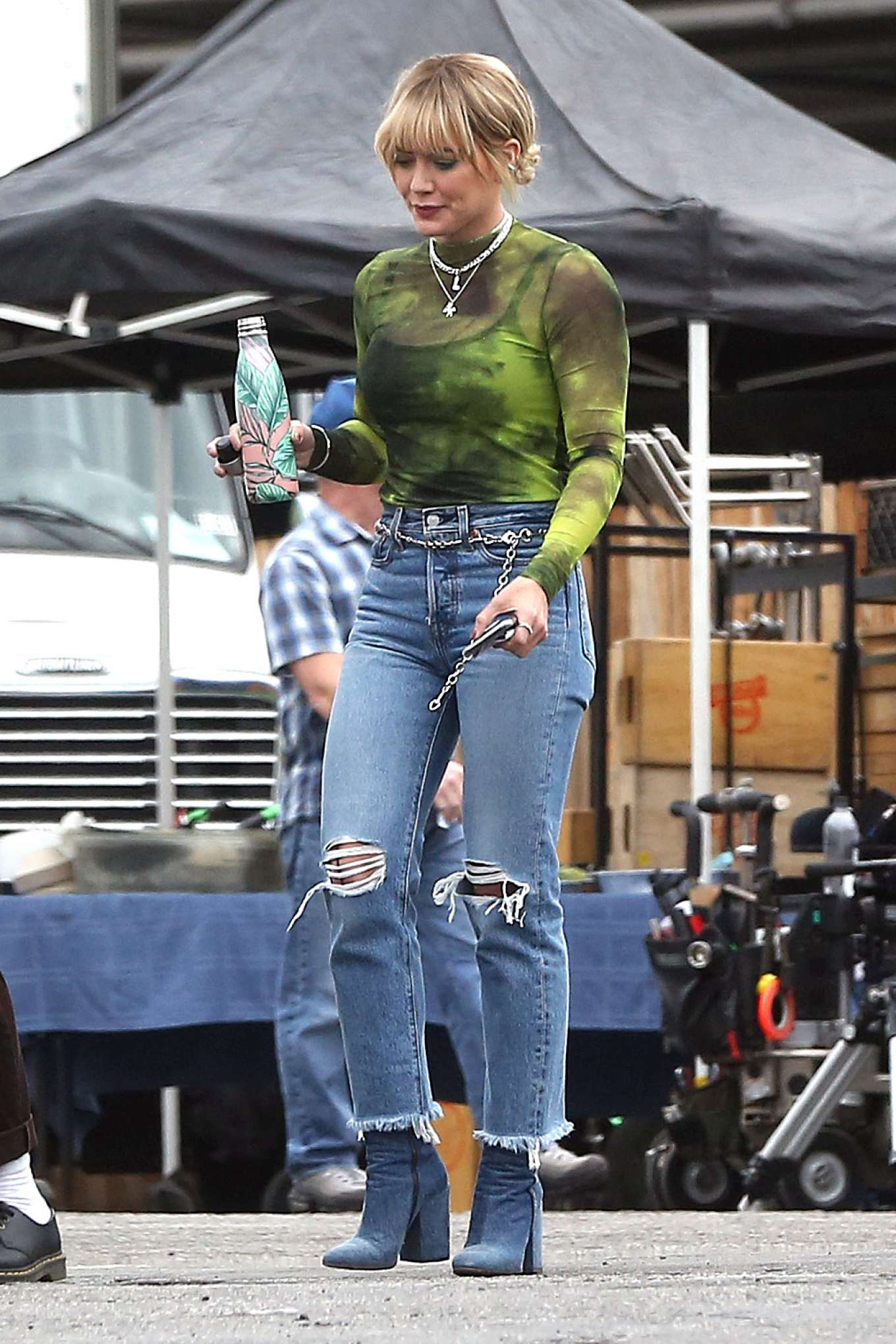 Hilary Duff 2019 : Hilary Duff – Takes a break while filming Lizzie McGuire-20