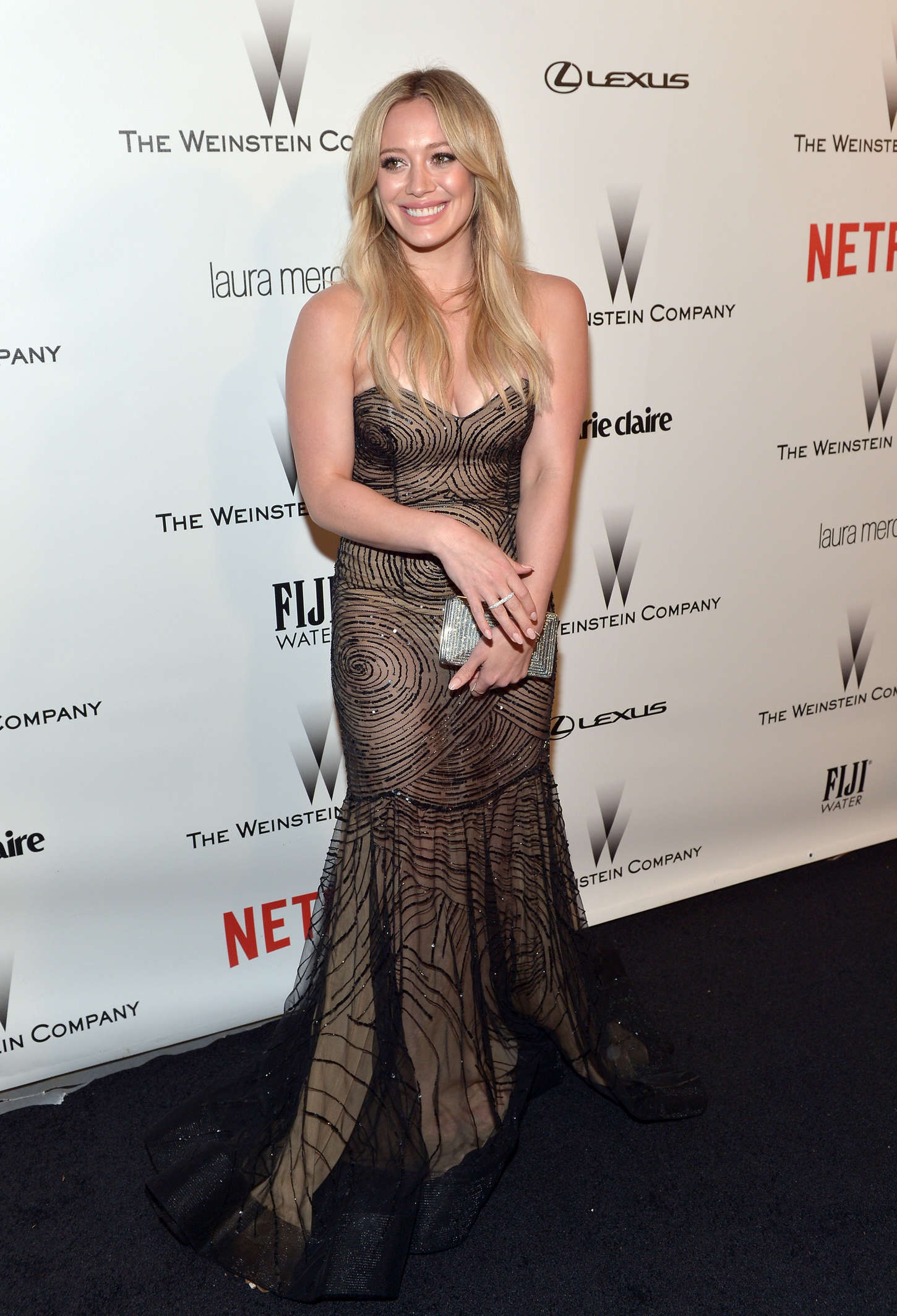 Hilary Duff 2015 : Hilary Duff: 2015 The Weinstein Company and Netflixs Golden Globes Party -01