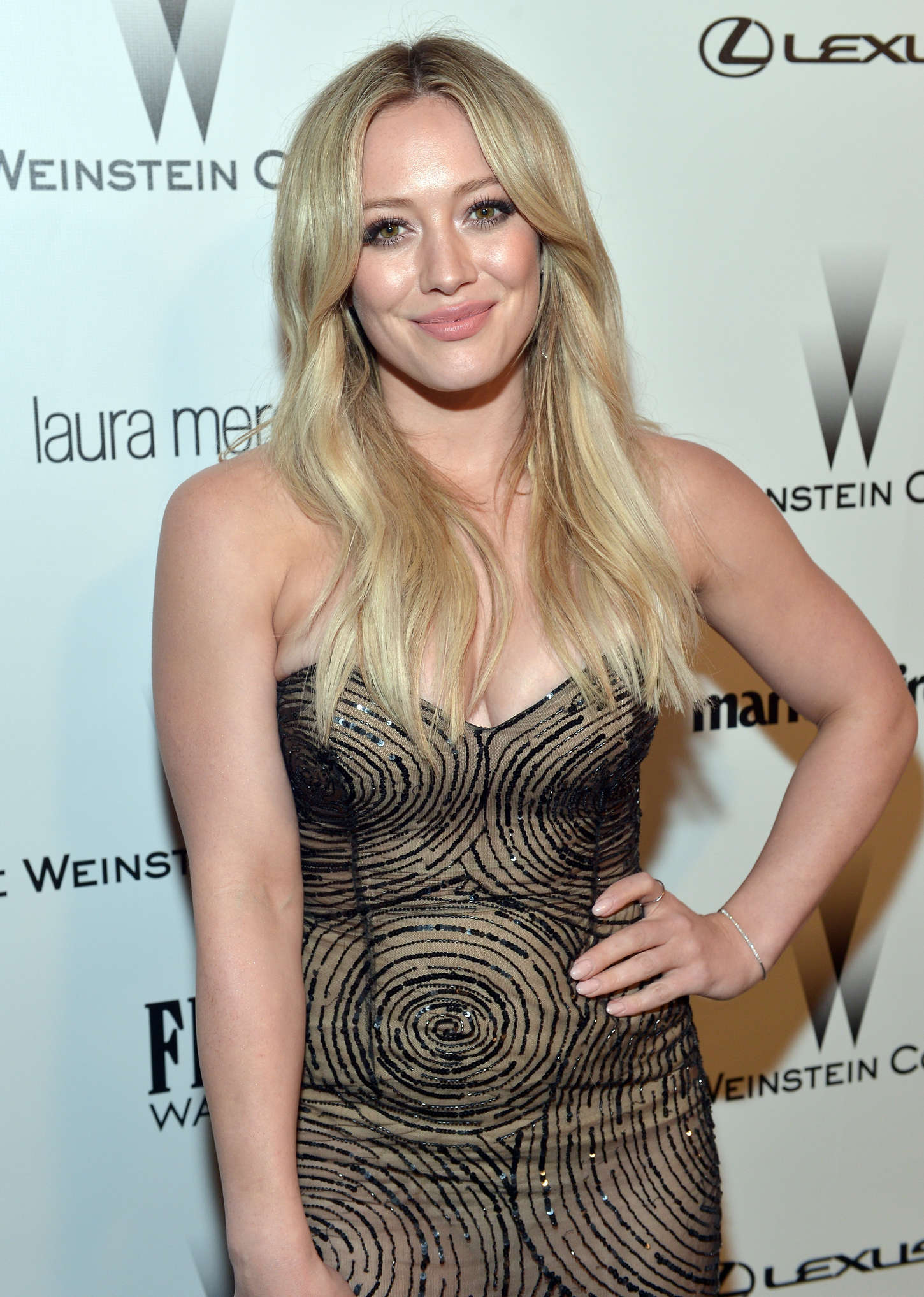 Hilary Duff 2015 : Hilary Duff: 2015 The Weinstein Company and Netflixs Golden Globes Party -02