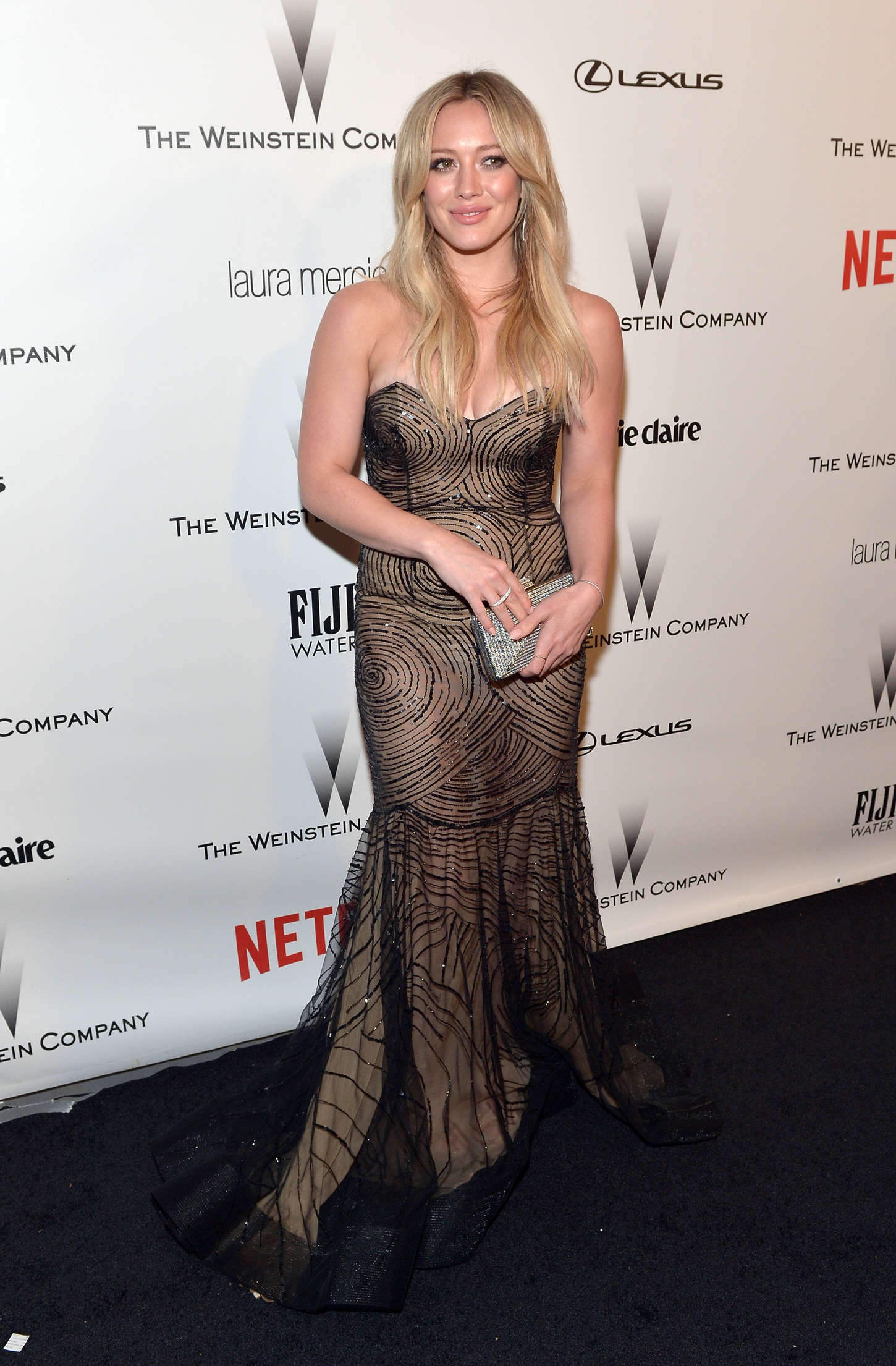 Hilary Duff 2015 : Hilary Duff: 2015 The Weinstein Company and Netflixs Golden Globes Party -04