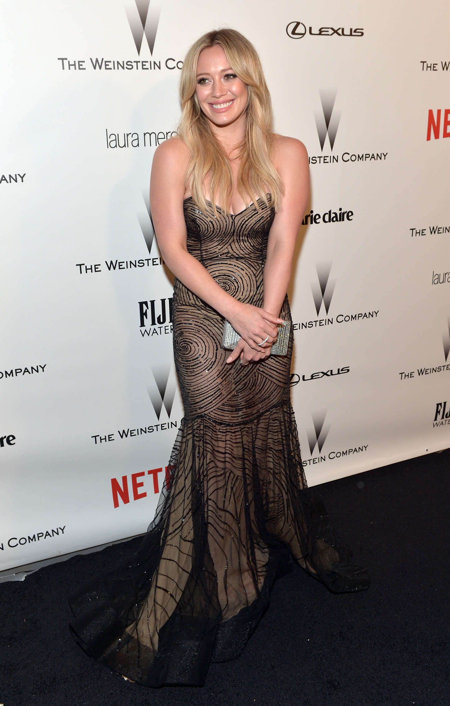 Hilary Duff 2015 : Hilary Duff: 2015 The Weinstein Company and Netflixs Golden Globes Party -05