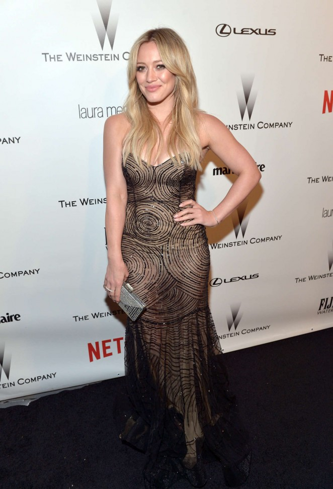 Hilary Duff – The Weinstein Company & Netflix's Golden Globes Party in Beverly Hills