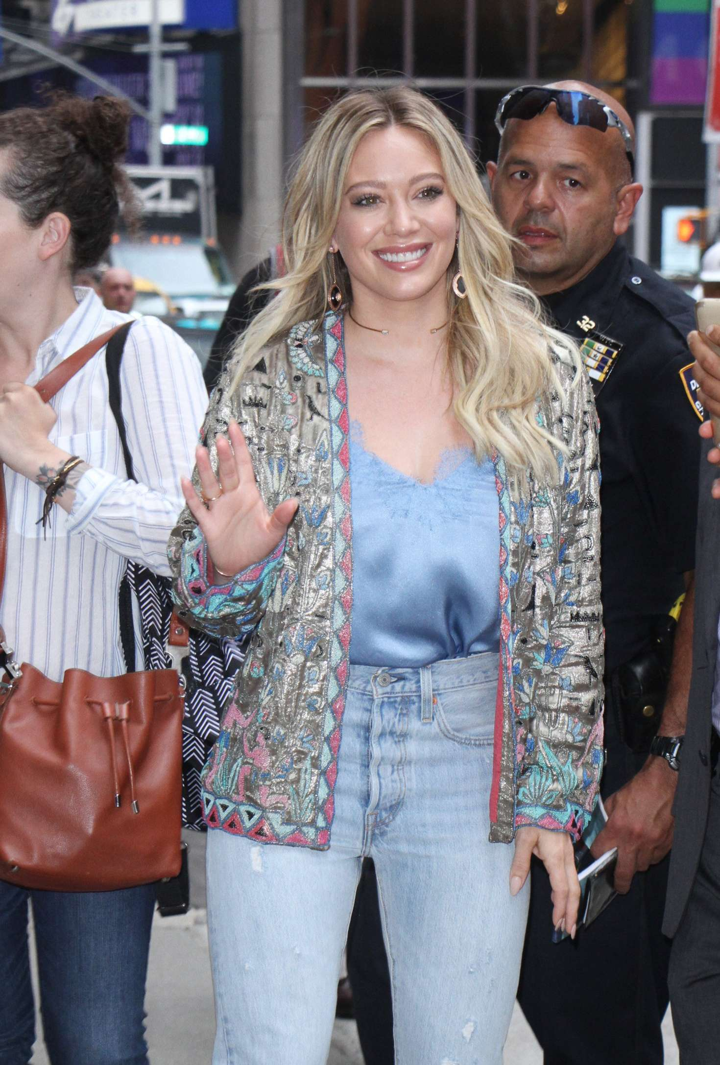 Hilary Duff - Visiting Good Morning America in New York