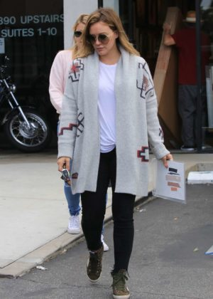Hilary Duff - Visits a frame store in Studio City