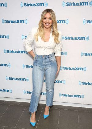 Hilary Duff - Visits at SiriusXM studios in New York City