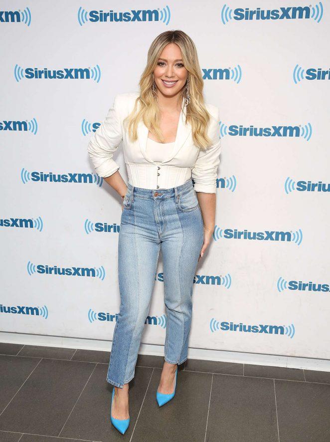 Hilary Duff - Visits at SiriusXM studios in New York City