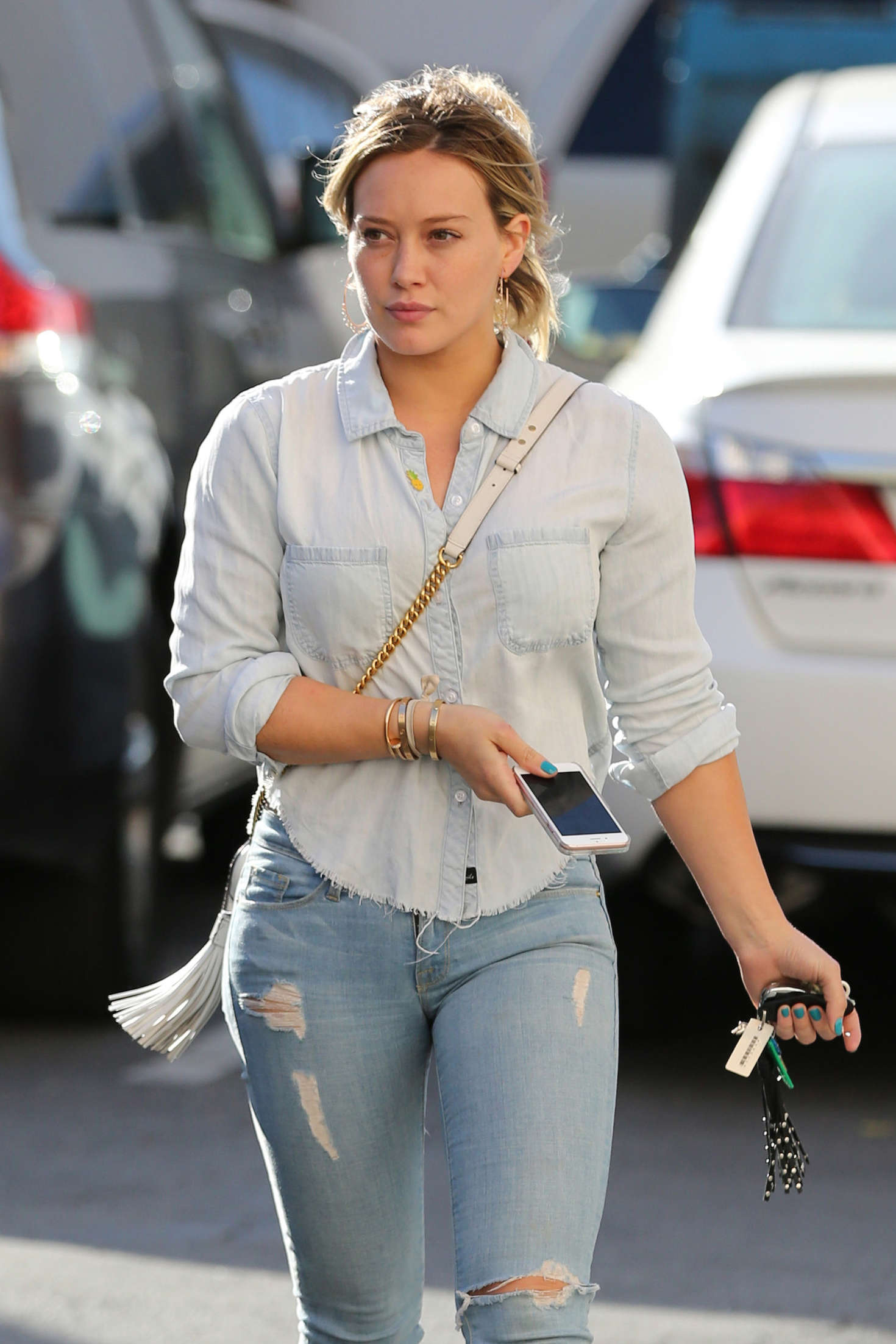 Hilary Duff - Visits the nail salon in Beverly Hills