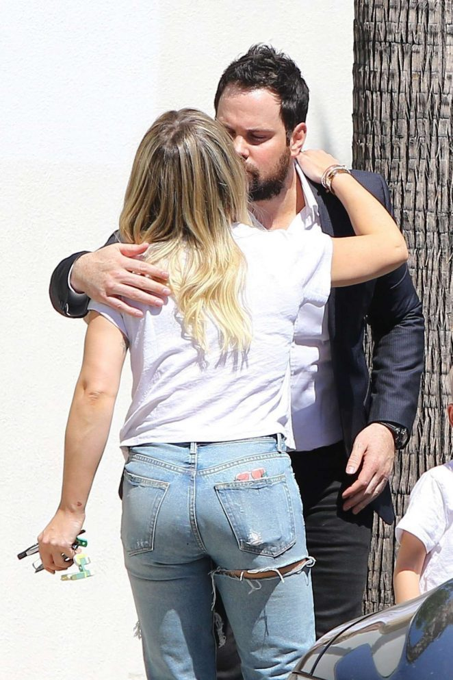 Hilary Duff with ex Mike Comrie out for lunch in Studio City