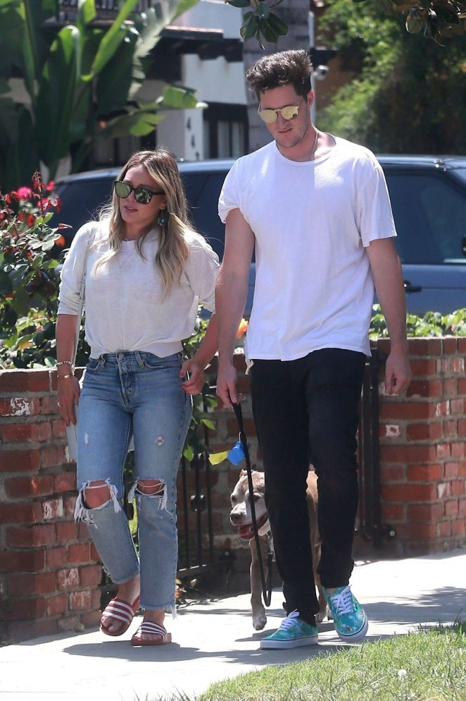Hilary Duff with her boyfriend Ely Sandvik in LA
