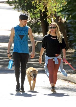 Hilary Duff with her boyfriend out in Los Angeles