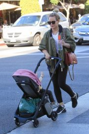 Hilary Duff with her daughter out in Beverly Hills