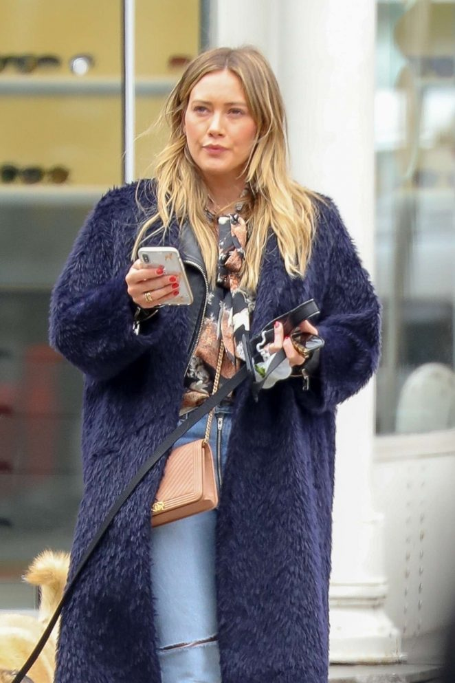 Hilary Duff with her new dog Lucy out in NY