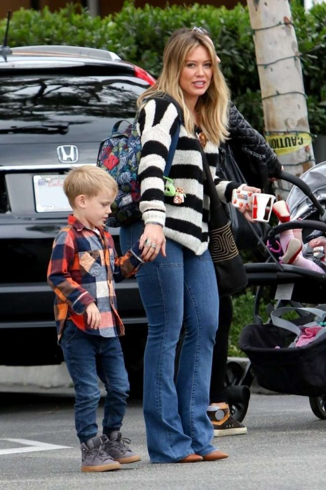 Hilary Duff with her son Luca Out in LA