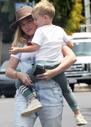 Hilary Duff with her son out in Los Angeles
