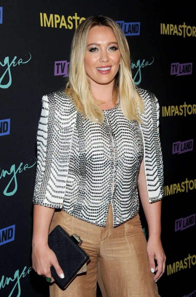 Hilary Duff - 'Younger' Season 3 and 'Impastor' Season 2 Premiere in NY
