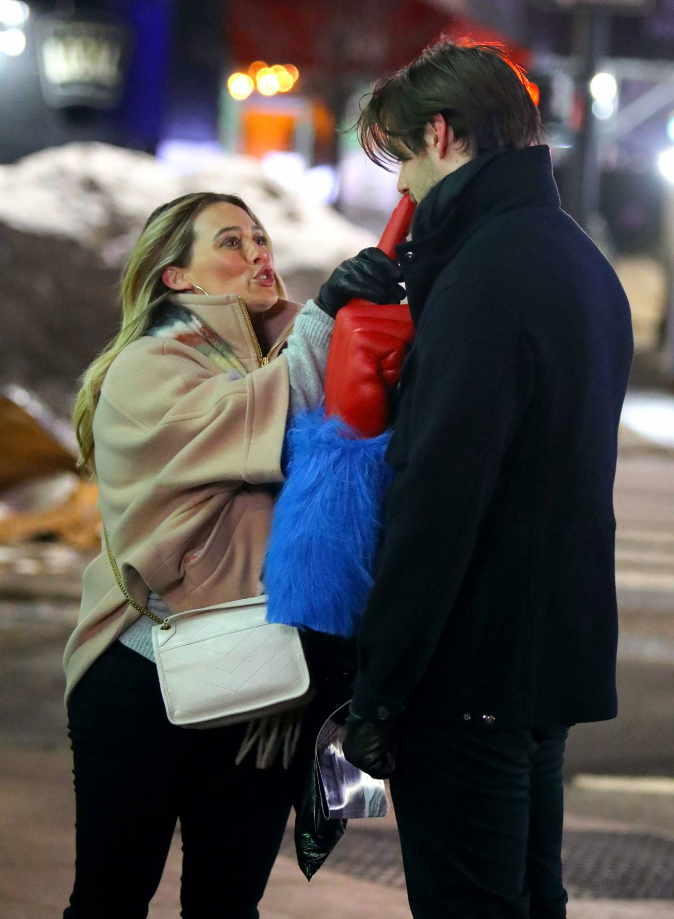 Hilary Duff - 'Younger' set filming in New York