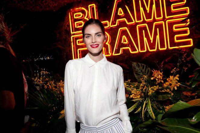 Hilary Rhoda – Frame's Blame Jordan Dinner – 2018 NYFW in New York