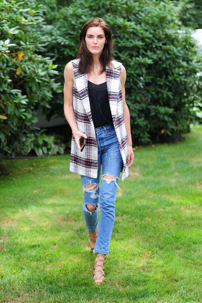 Hilary Rhoda in Ripped Jeans Photoshoot
