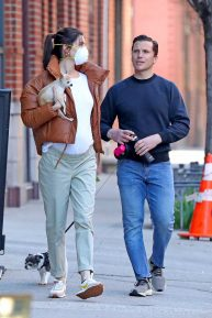 Hilary Rhoda with Husband Sean Avery - Out for a Walk in New York City
