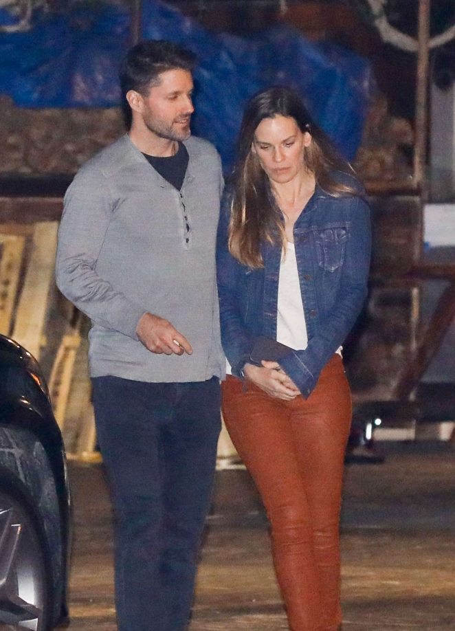 Hilary Swank and Philip Schneider at Soho in Malibu