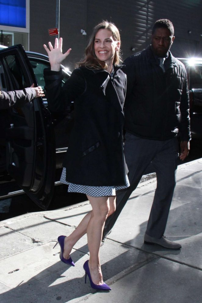 Hilary Swank - Arrives at 'Good Morning America' in NYC