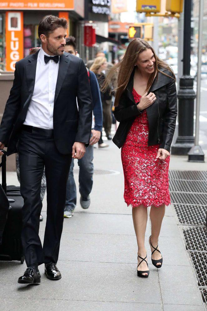 Hilary Swank at Emmy Rossum's Wedding in New York City