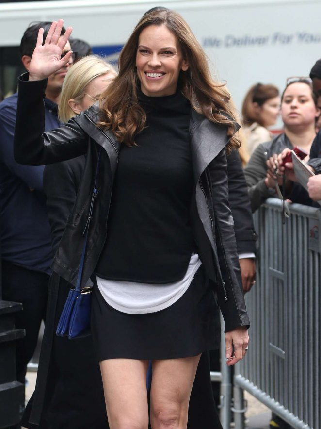 Hilary Swank at the AOL Build in New York City