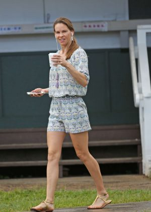 Hilary Swank celebrates her birthday in Hawaii