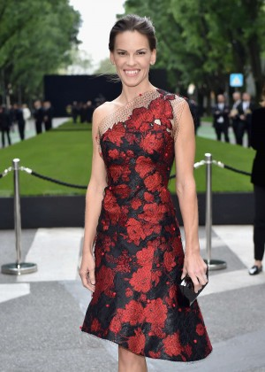 Hilary Swank - Giorgio Armani 40th Anniversary Silos Opening And Cocktail Reception in Milan