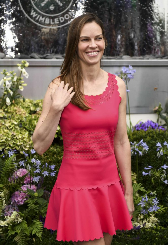 Hilary Swank - Leaving the Wimbledon Tennis Championships in London