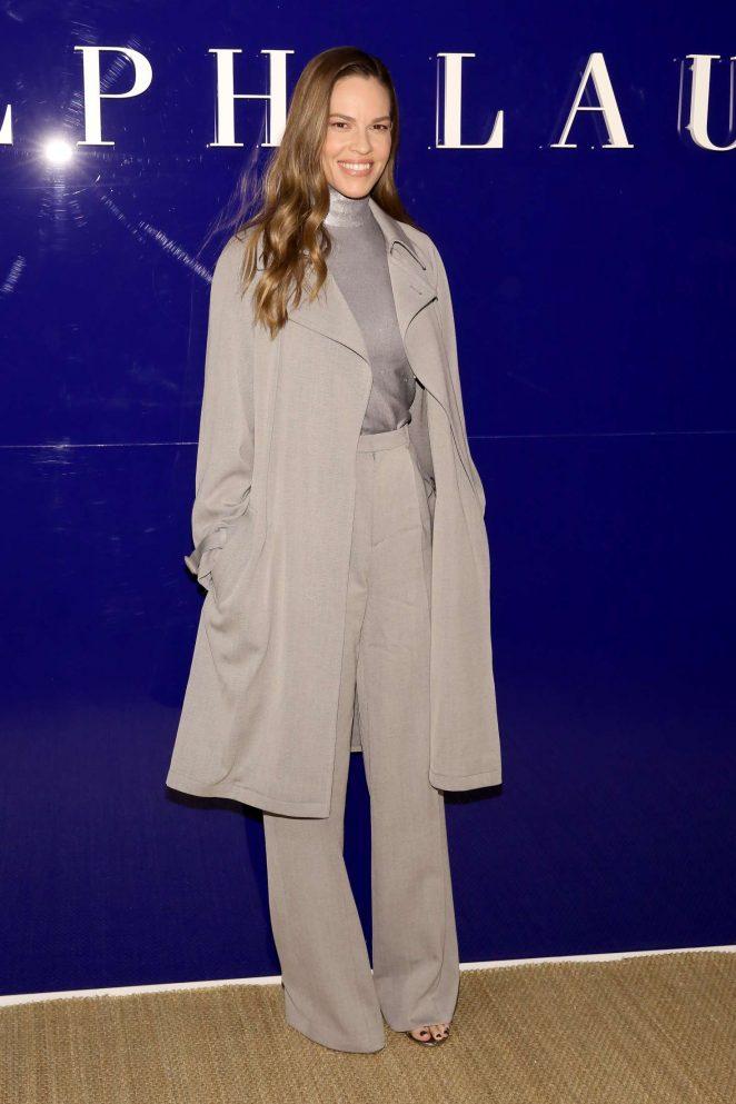 Hilary Swank - Ralph Lauren Fashion Show 2018 in New York