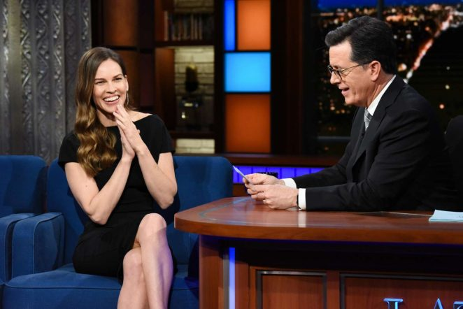 Hilary Swank - 'The Late Show with Stephen Colbert' in NY