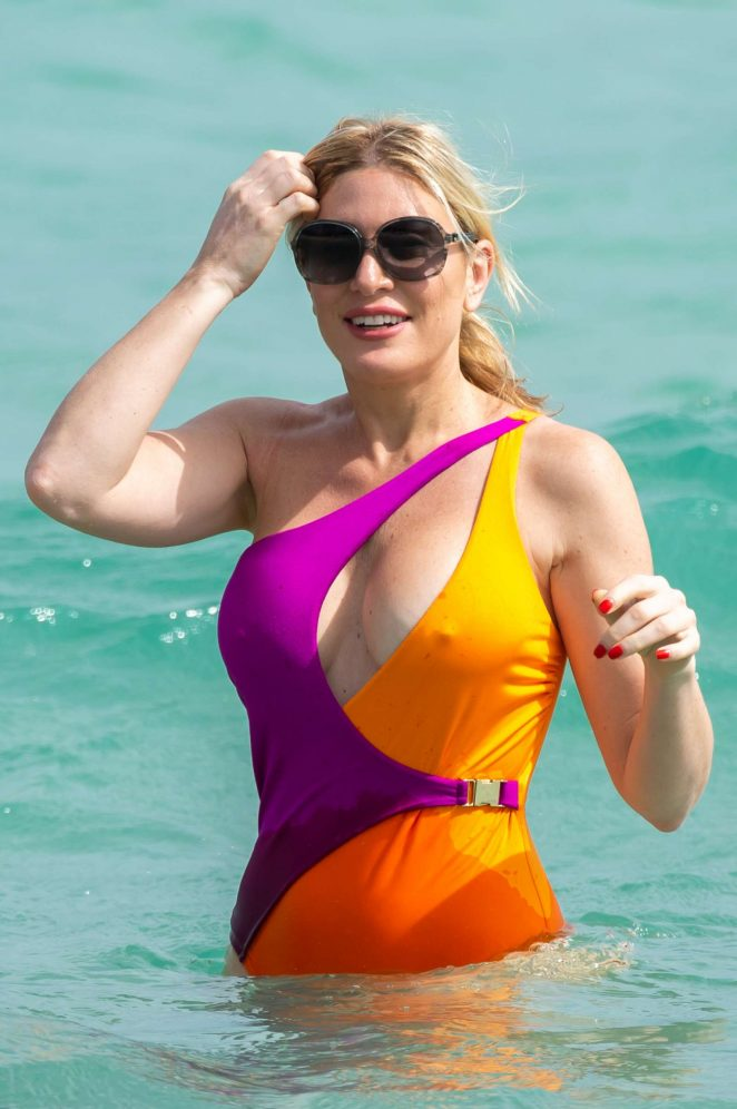 Hofit Golan in Swimsuit on the beach in Miami