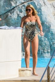 Hofit Golan in Swimsuit on the pool in Antibes