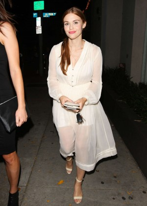 Holland Roden - Leaves Craig's Resturant in Los Angels