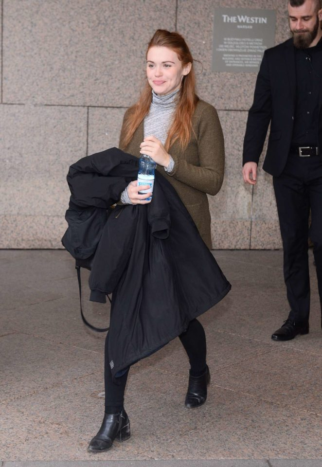 Holland Roden - Leaves her hotel in Warsaw