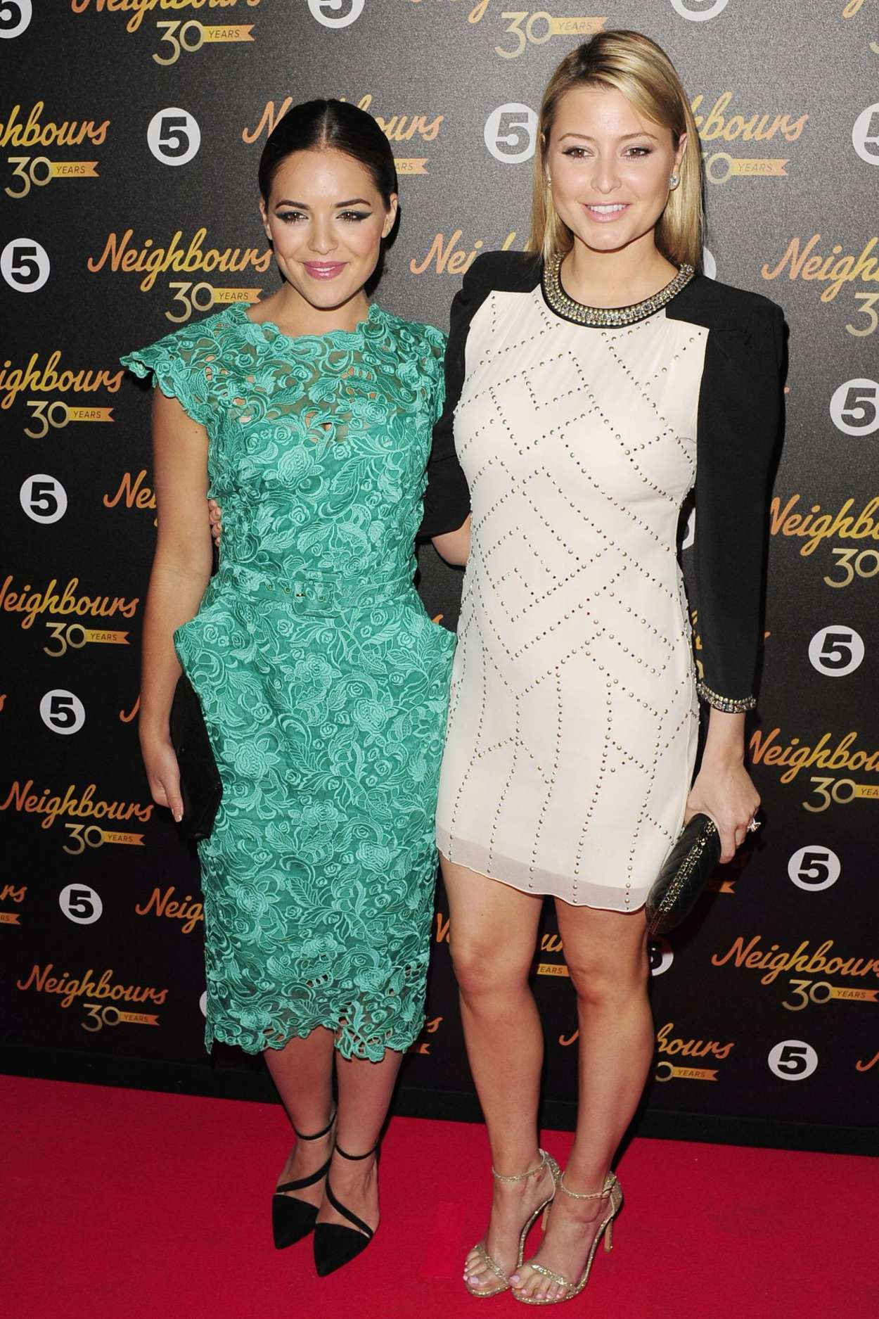 Holly and Olympia Valance - Neighbours 30th Anniversary Party in London