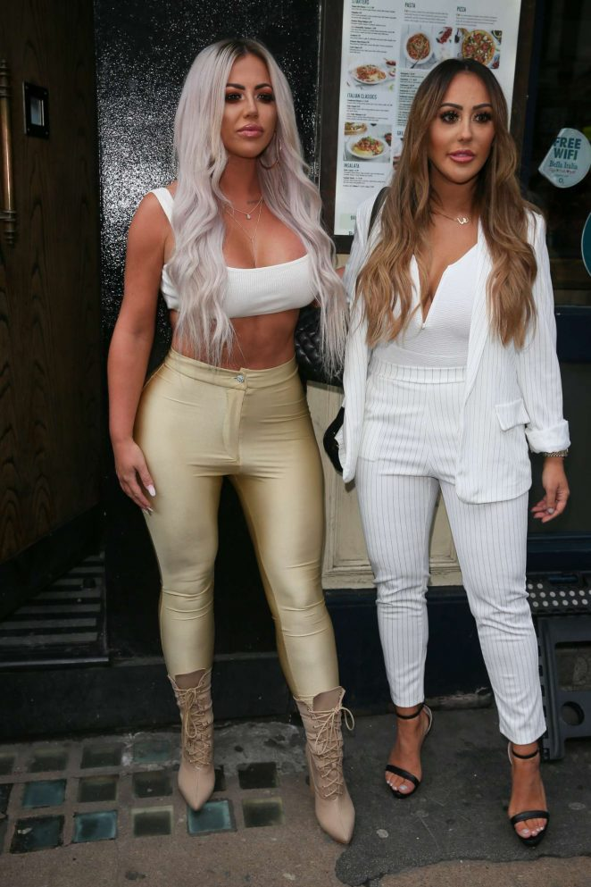 Holly Hagan and Sophie Kasaei – Arriving at Charlotte Crosby TV Show in London