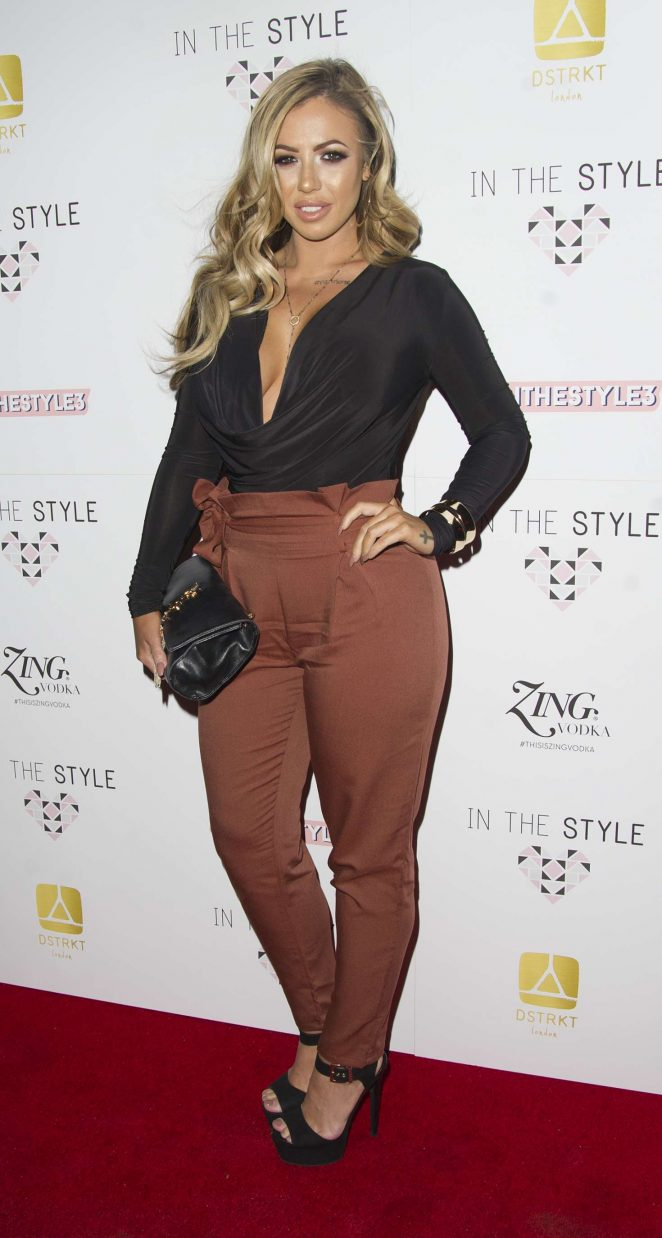 Holly Hagan - In The Style AW16 Launch Event in London