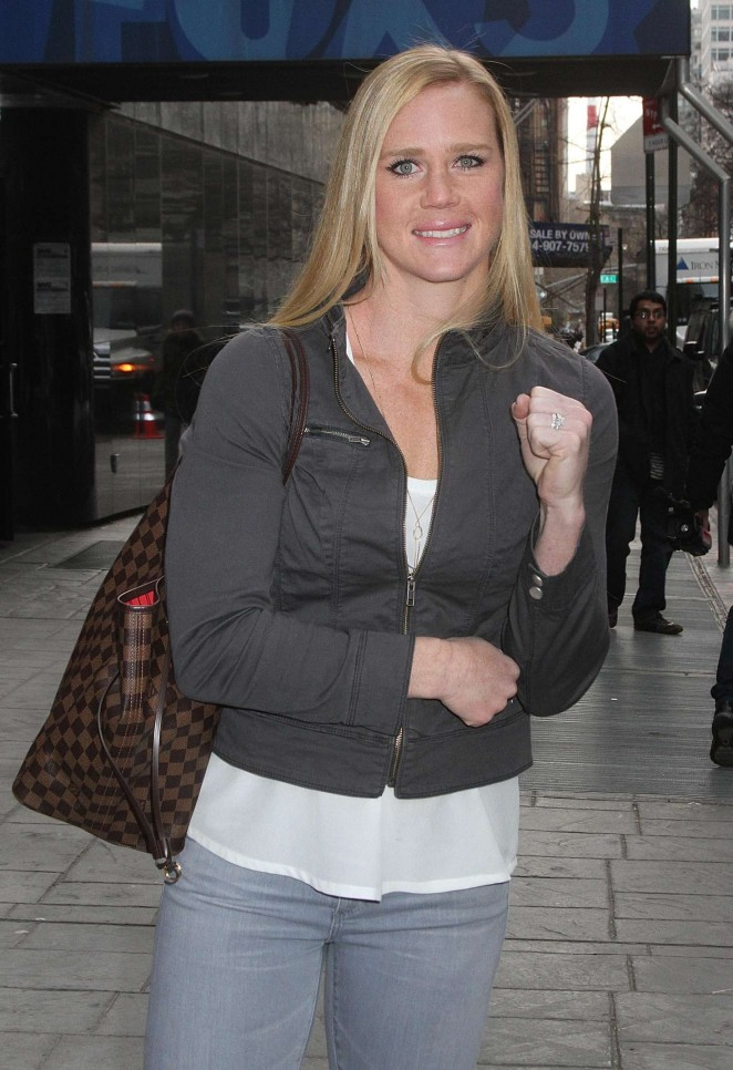 Holly Holm Leaving 'Good Day New York' in New York City