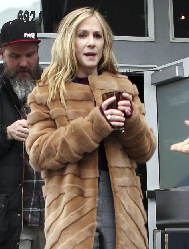 Holly Hunter out at 2017 Sundance Film Festival in Utah