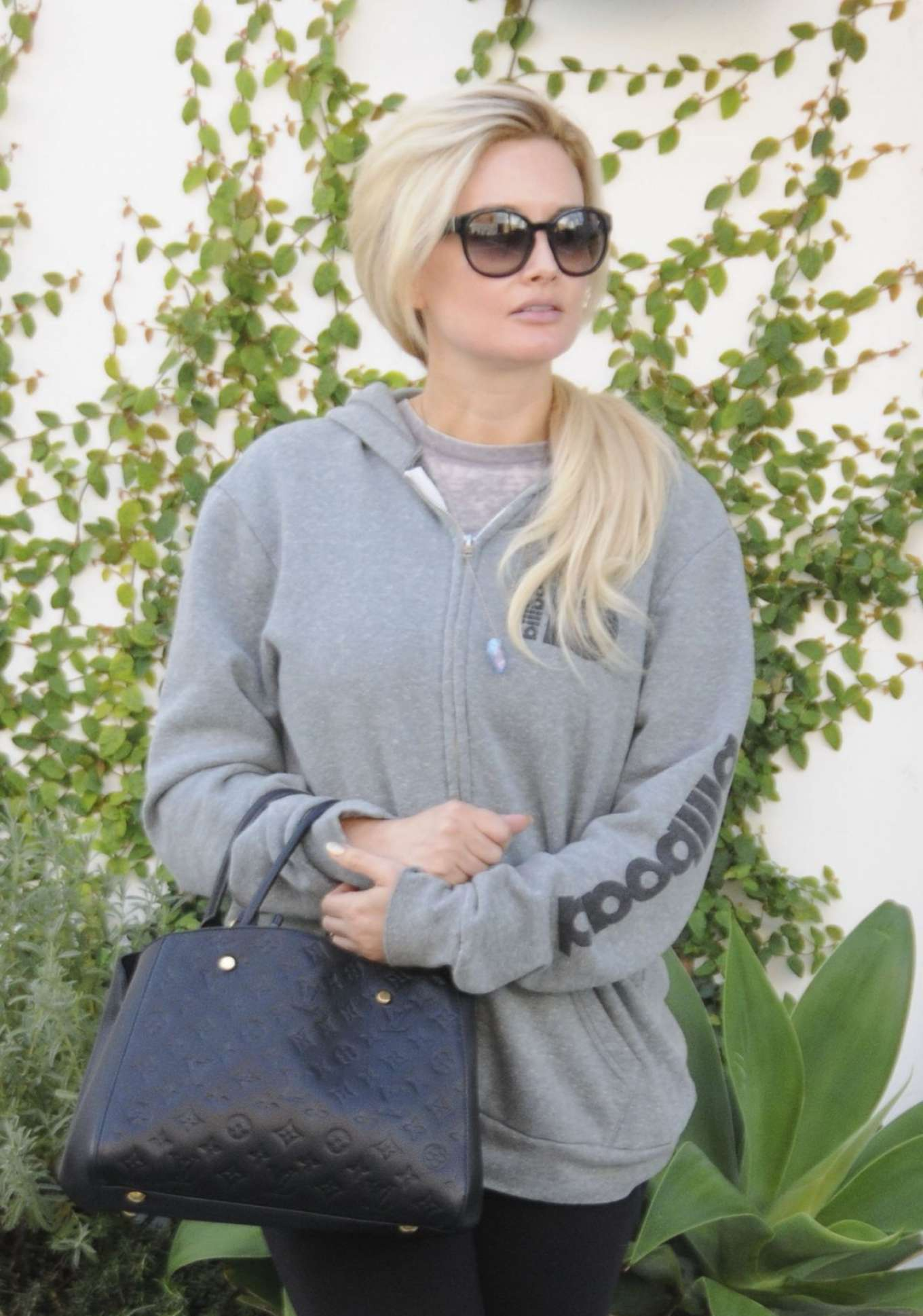 Holly Madison Leaves Lancer Dermatology in Beverly Hills