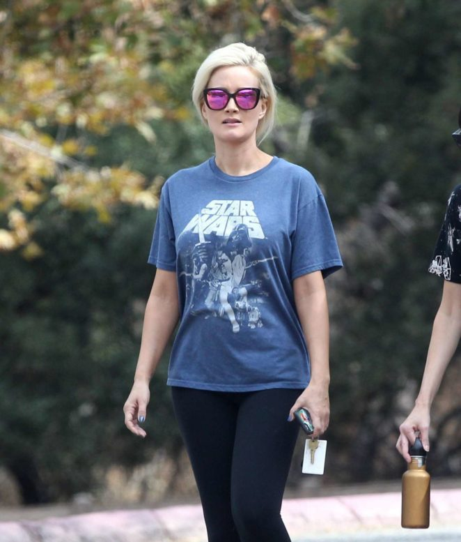 Holly Madison out hiking at The Old LA Zoo in Los Angeles
