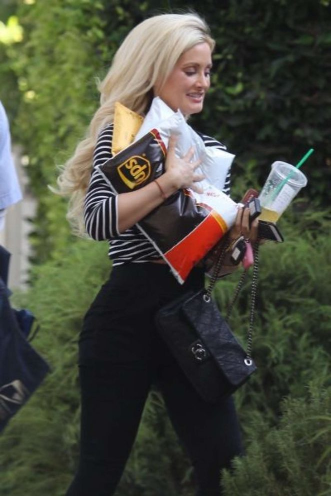 Holly Madison out in Hollywood