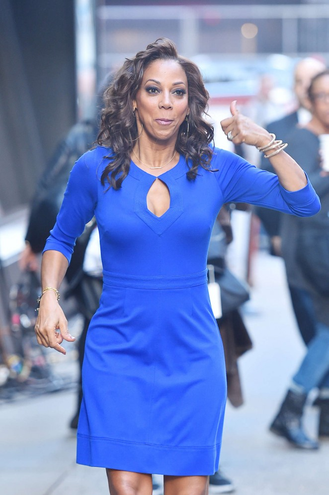 Holly Robinson Peete - Arrives at Good Morning America in New York
