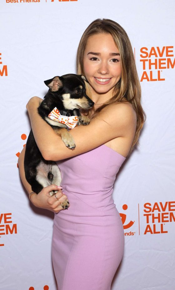 Holly Taylor - Best Friends Animal Society Benefit To Save Them All in NY